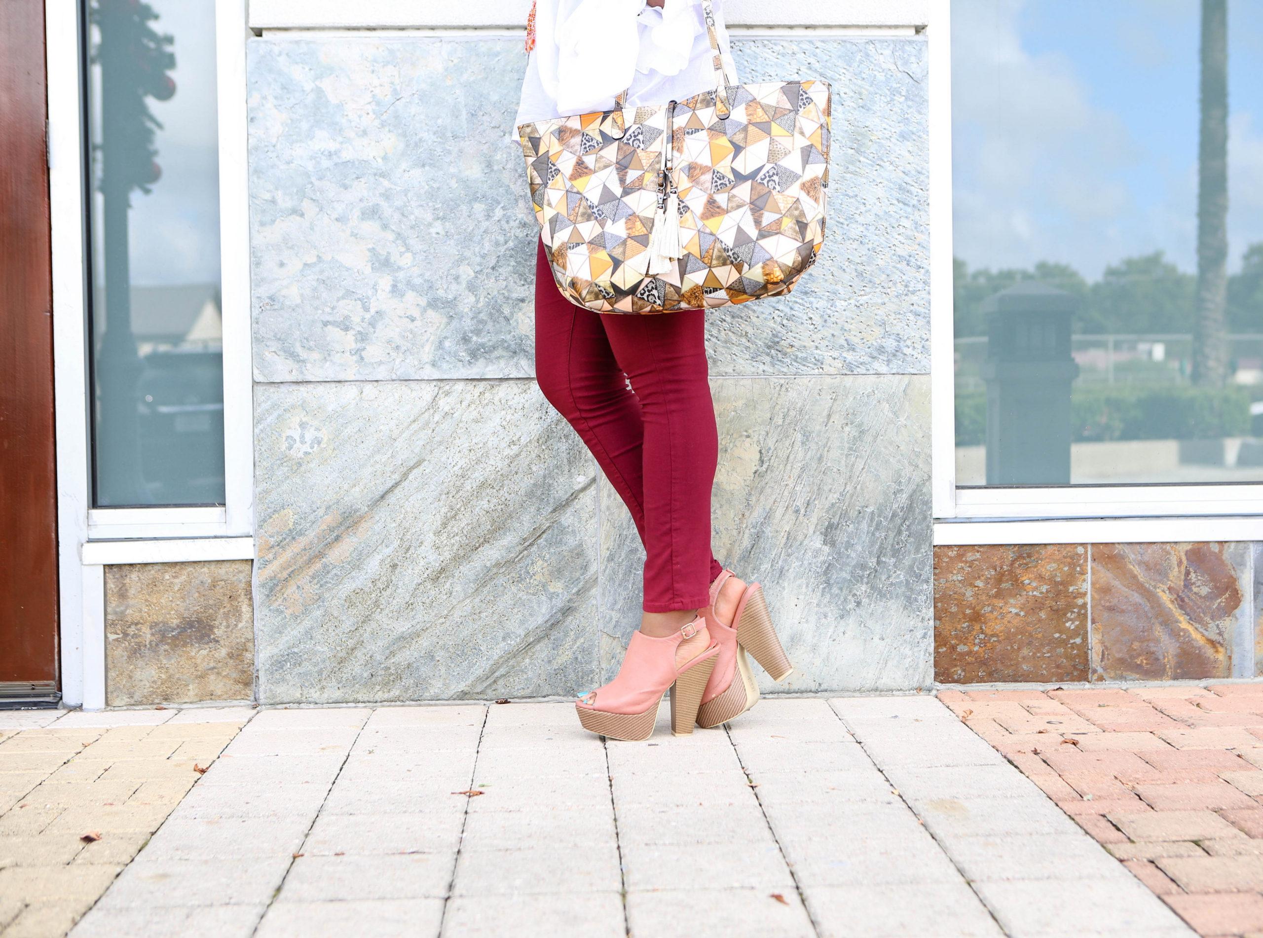 Chigi's World Coral and Cobblestone Patrizia Luca Handbag Shoedazzle Shoes