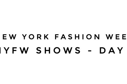 NYFW Shows – Day 1