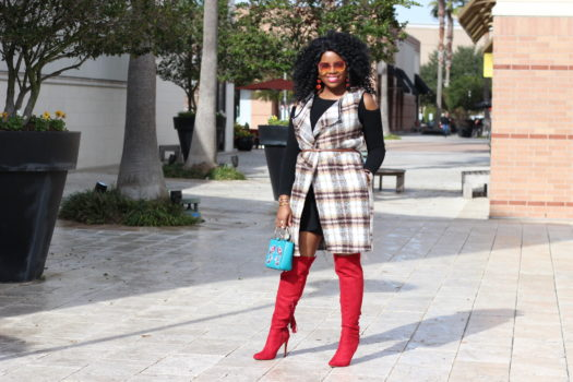 InStyle Inspiration – Plaid Vest and Red Boots + GIVEAWAY