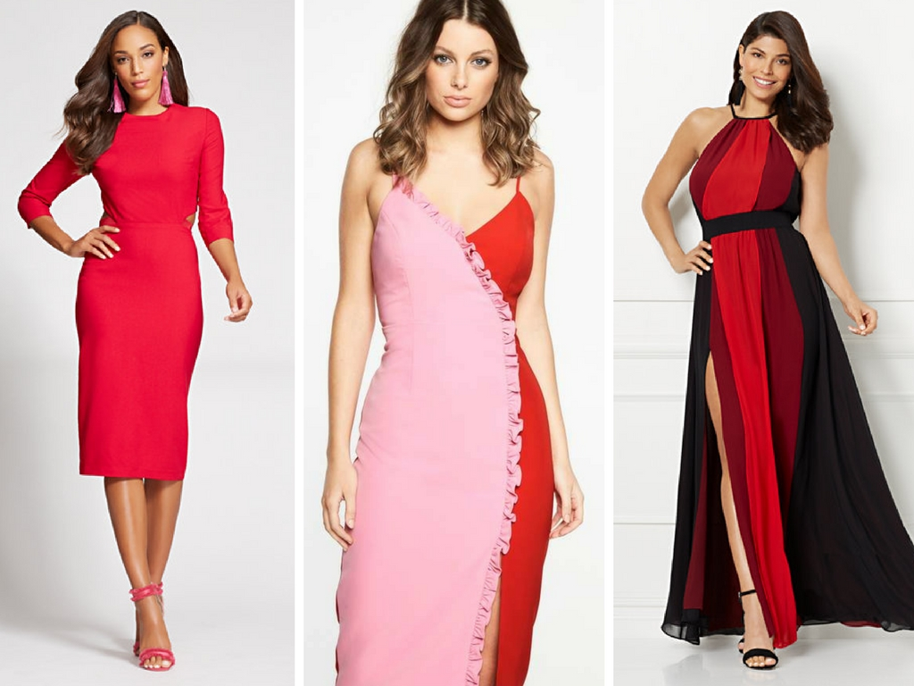What to wear and Where to Shop for a Date Night Dress Valentine's Day Looks Red Pink Purple Black Dress Bodycon Midi Dress Desk to Dinner Looks Work Wear Happy Hour Outfits Aldo Amazon Fashion Asos As Seen On Me Nordstrom NY and Company SheIn Target Henri Bendel Bendel Girl Look for Less Sales Style Subscription Box